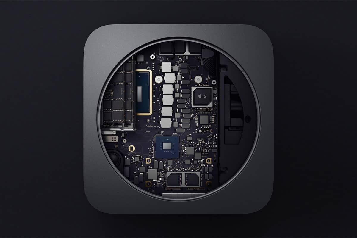 Mac Mini geöffnet