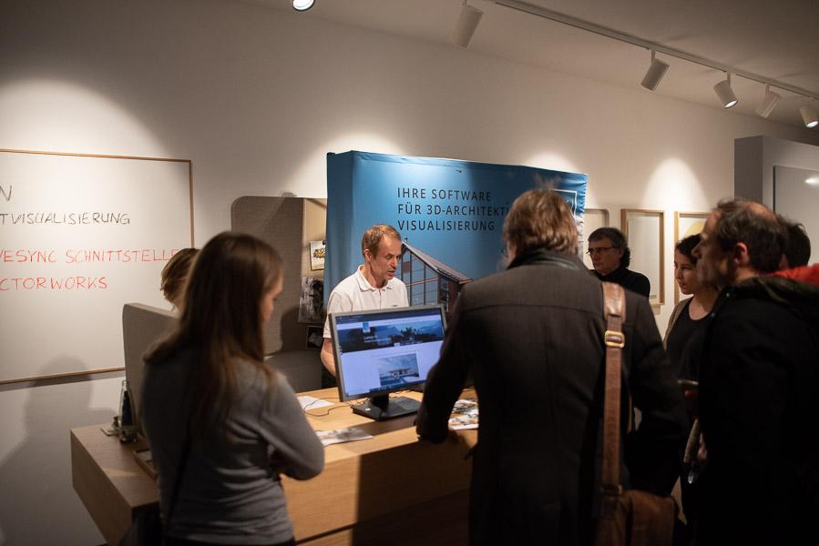 Infostand von Lumion mit Frank Schroer bei Inside VECTORWORKS 2020